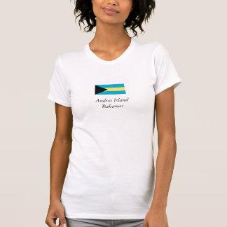 Camiseta Bandeira da ilha de Andros, Bahamas