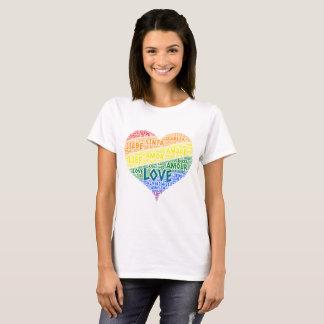 Camiseta Bandeira da lareira do arco-íris de LGBT ilustrada