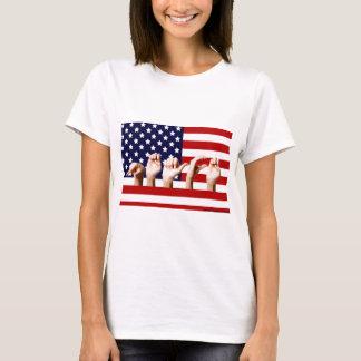 Camiseta Bandeira da paz soletrada para fora no ASL