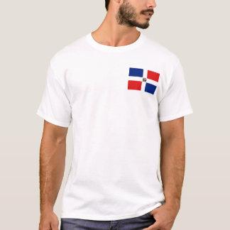 Camiseta Bandeira da República Dominicana e t-shirt do mapa