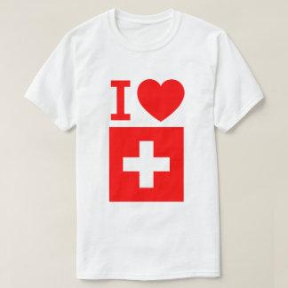 Camiseta Bandeira da suiça