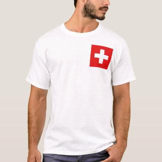 Camiseta Bandeira da suiça e t-shirt do mapa