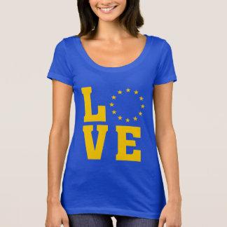 Camiseta Bandeira da UE, União Europeia, AMOR