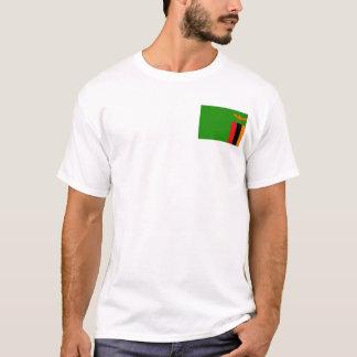 Camiseta Bandeira da Zâmbia e t-shirt do mapa