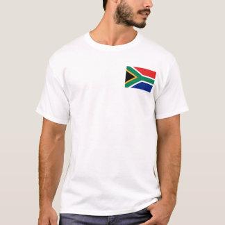Camiseta Bandeira de África do Sul e t-shirt do mapa
