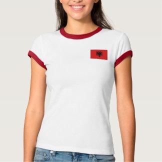 Camiseta Bandeira de Albânia + T-shirt do mapa