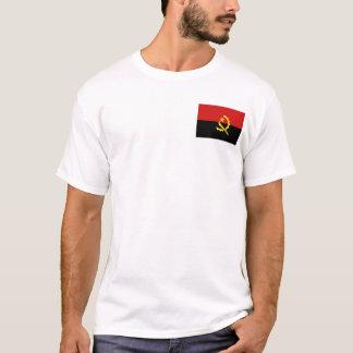 Camiseta Bandeira de Angola e t-shirt do mapa
