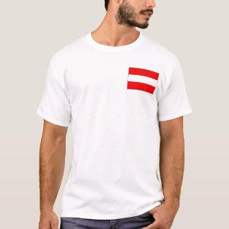 Camiseta Bandeira de Áustria e t-shirt do mapa