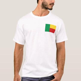 Camiseta Bandeira de Benin e t-shirt do mapa