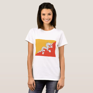 Camiseta Bandeira de Bhutan