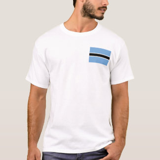 Camiseta Bandeira de Botswana e t-shirt do mapa