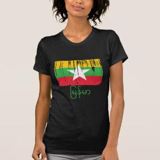 Camiseta Bandeira de Burma Myanmar