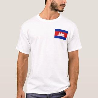 Camiseta Bandeira de Cambodia e t-shirt do mapa