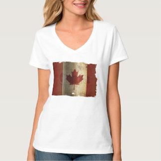 Camiseta Bandeira de Canadá/Grunge…