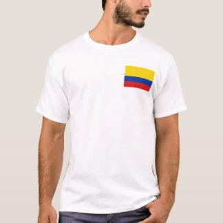 Camiseta Bandeira de Colômbia e t-shirt do mapa