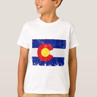 Camiseta Bandeira de Colorado afligida