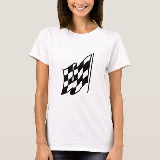 Camiseta Bandeira de competência Checkered