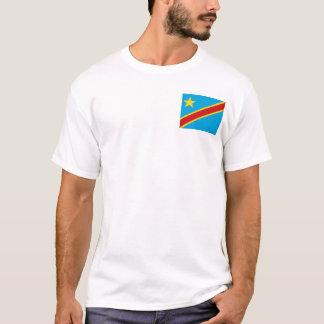 Camiseta Bandeira de Congo-Kinshasa e t-shirt do mapa
