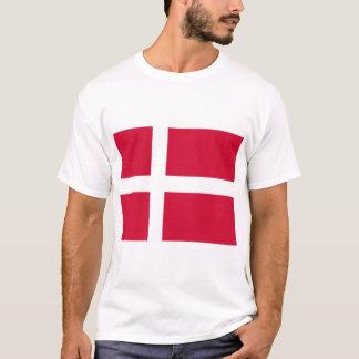 Camiseta Bandeira de Dinamarca ou do pano dinamarquês