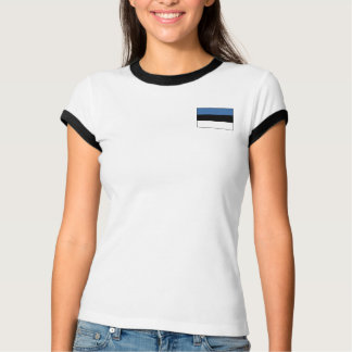 Camiseta Bandeira de Estónia + T-shirt do mapa