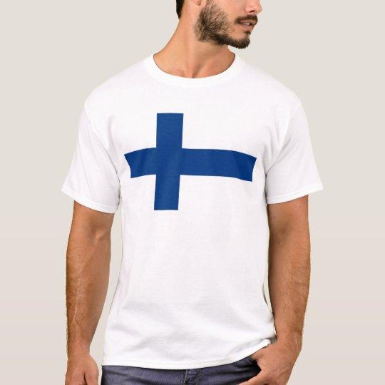 Camiseta Bandeira de Finlandia (lippu de Suomen, flagga de