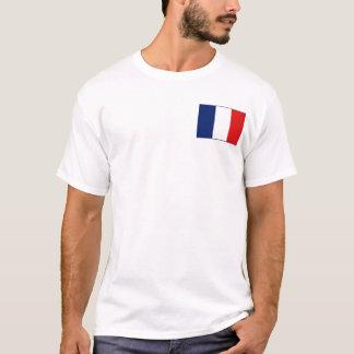 Camiseta Bandeira de France e t-shirt do mapa