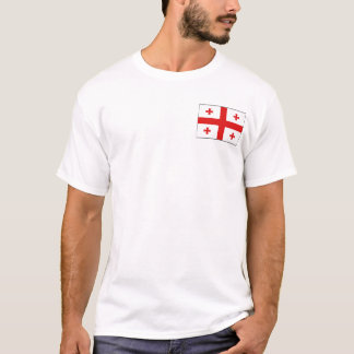 Camiseta Bandeira de Geórgia e t-shirt do mapa