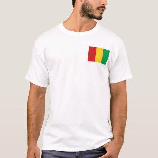 Camiseta Bandeira de Guiné-Conakry e t-shirt do mapa