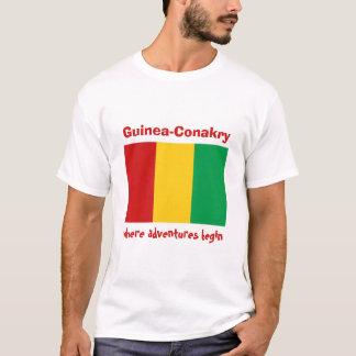 Camiseta Bandeira de Guiné-Conakry + Mapa + T-shirt do