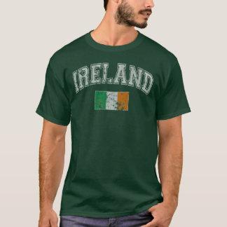 Camiseta Bandeira de Ireland do vintage