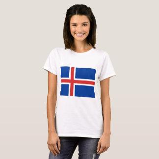 Camiseta Bandeira de Islândia