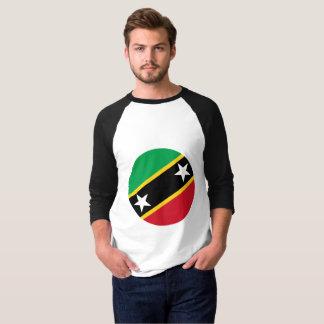 Camiseta Bandeira de Kitts e de Nevis