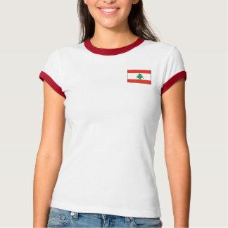 Camiseta Bandeira de Líbano + T-shirt do mapa