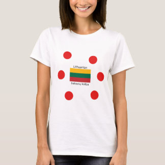 Camiseta Bandeira de Lithuania e design lituano da língua
