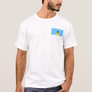 Camiseta Bandeira de Lucia de santo e t-shirt do mapa