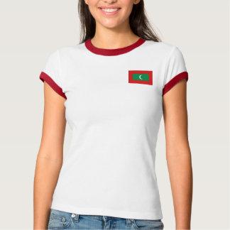 Camiseta Bandeira de Maldives + T-shirt do mapa