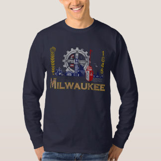 Camiseta Bandeira de Milwaukee Wisconsin