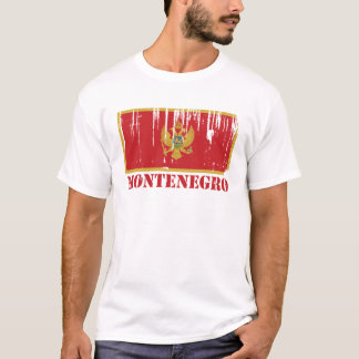 Camiseta Bandeira de Montenegro