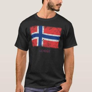 Camiseta Bandeira de Noruega do Grunge