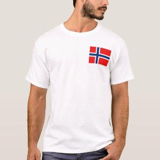 Camiseta Bandeira de Noruega e t-shirt do mapa