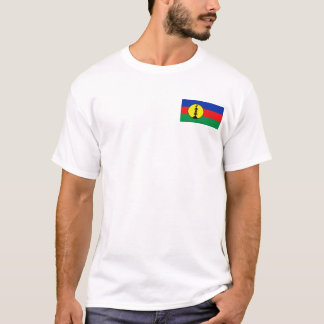 Camiseta Bandeira de Nova Caledônia e t-shirt do mapa