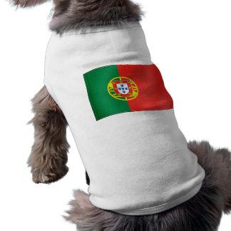 Camiseta Bandeira de ondulação de Portugal