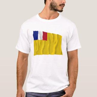 Camiseta Bandeira de ondulação francesa de Indochina