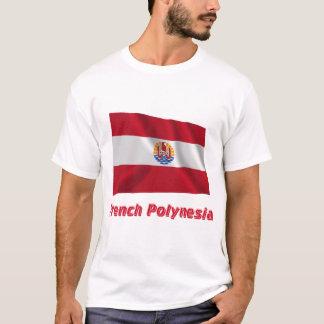 Camiseta Bandeira de ondulação francesa de Polinésia com