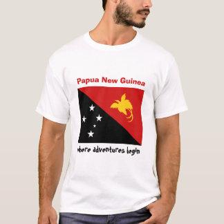 Camiseta Bandeira de Papuá-Nova Guiné + Mapa + T-shirt do