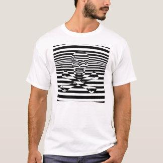 Camiseta Bandeira de pirata alegre psicadélico de Roger