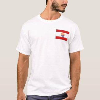 Camiseta Bandeira de Polinésia francesa e t-shirt do mapa