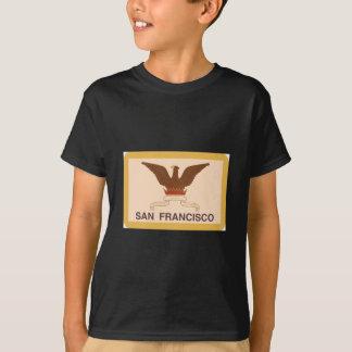 Camiseta Bandeira de San Francisco - retro