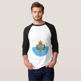 Camiseta Bandeira de San Marino
