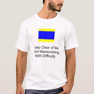 Camiseta bandeira de sinal náutico